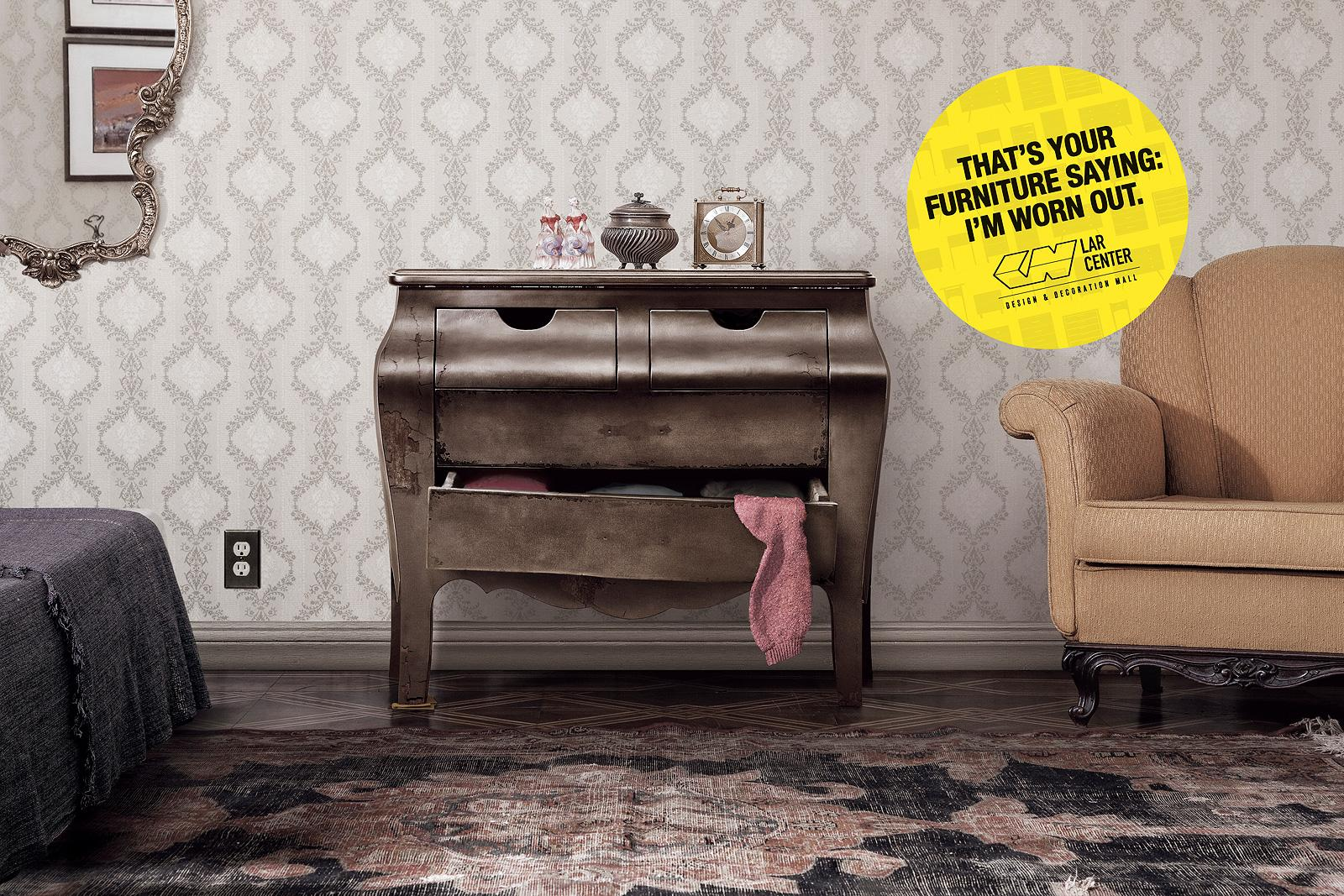 Lar Center Print Ad -  Tired Furniture, 2