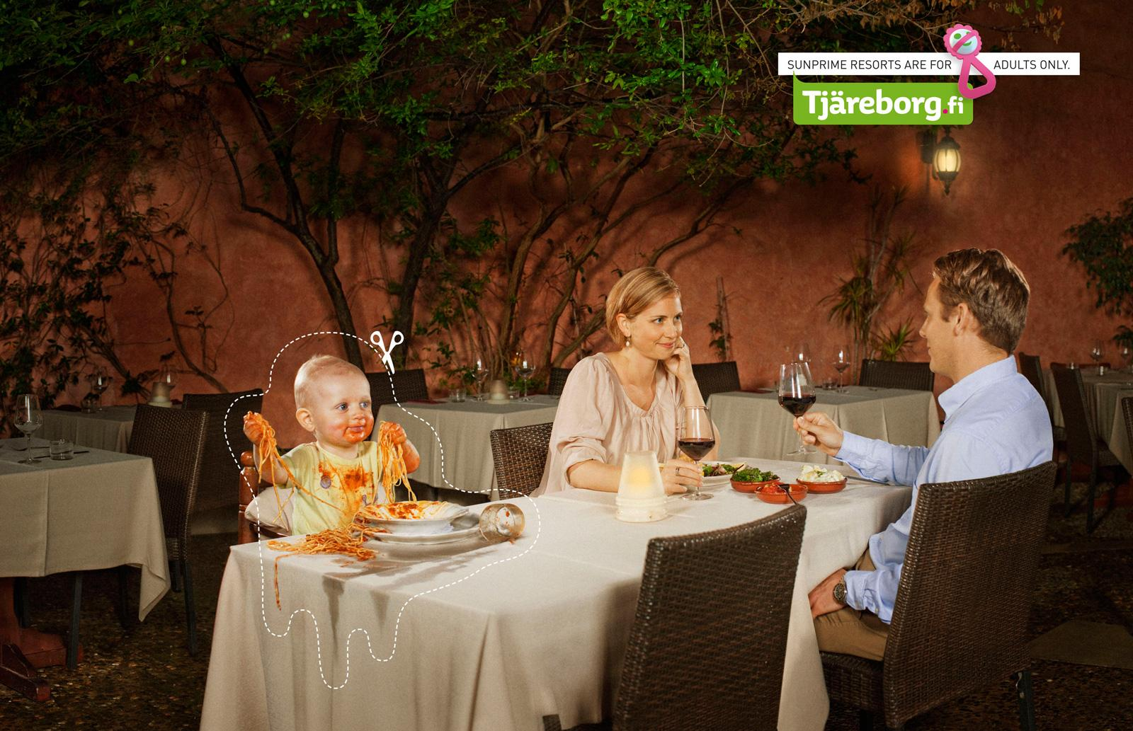 Tjäreborg Print Ad -  No kids, Dinner