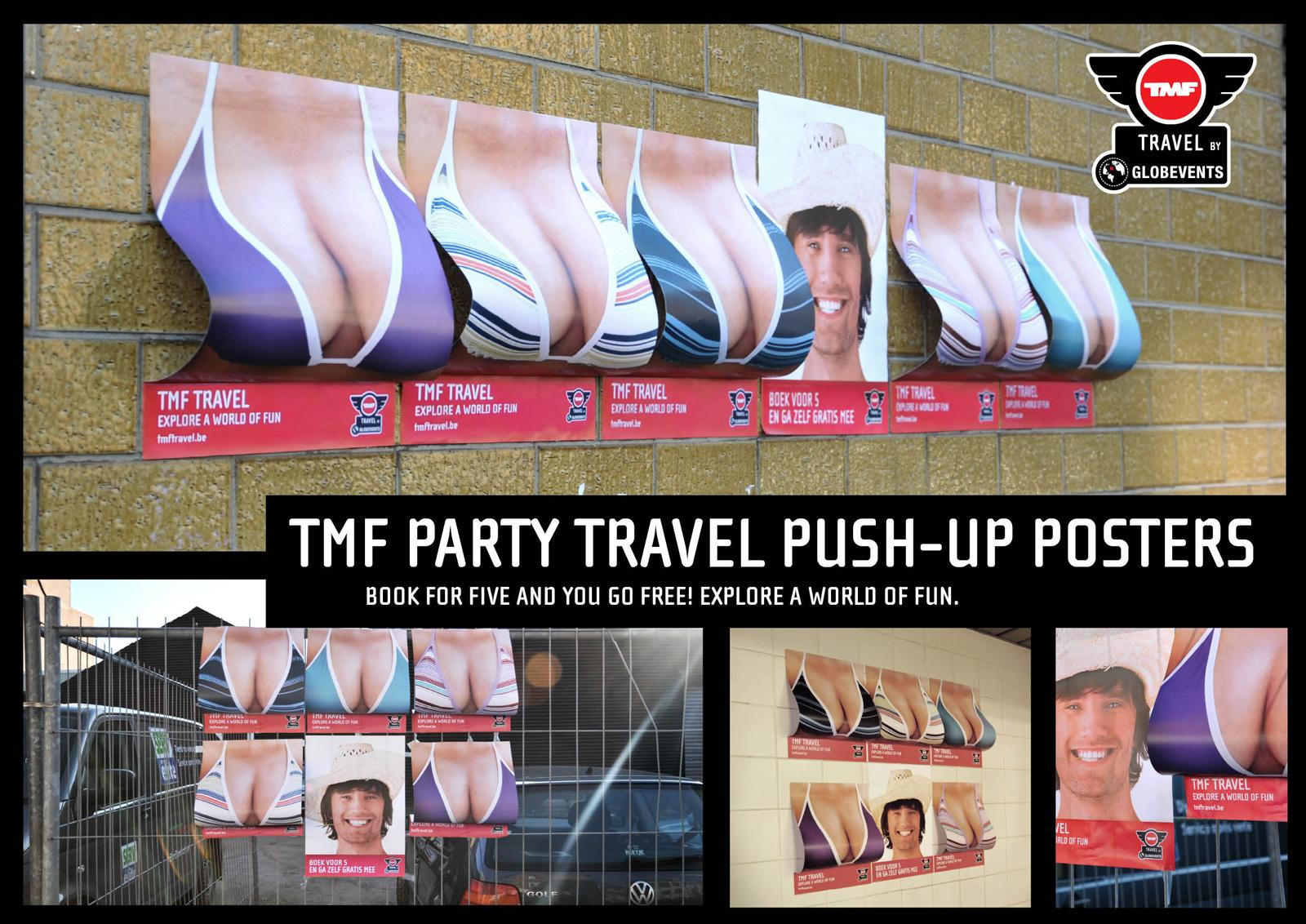 TMF Outdoor Ad -  Push-up posters