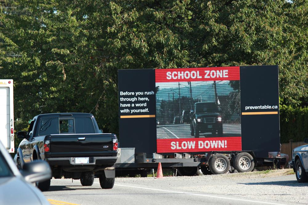 BCAA Outdoor Ad - Speeders Beware, You Are on a Digital Billboard