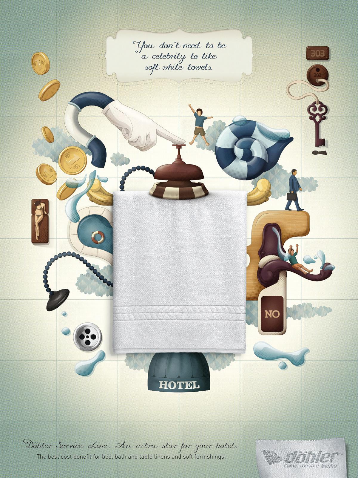 Döhler Print Ad -  Towel