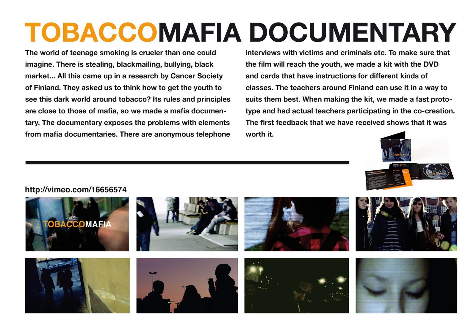 Cancer Society of Finland Film Ad -  Tobaccomafia Documentary