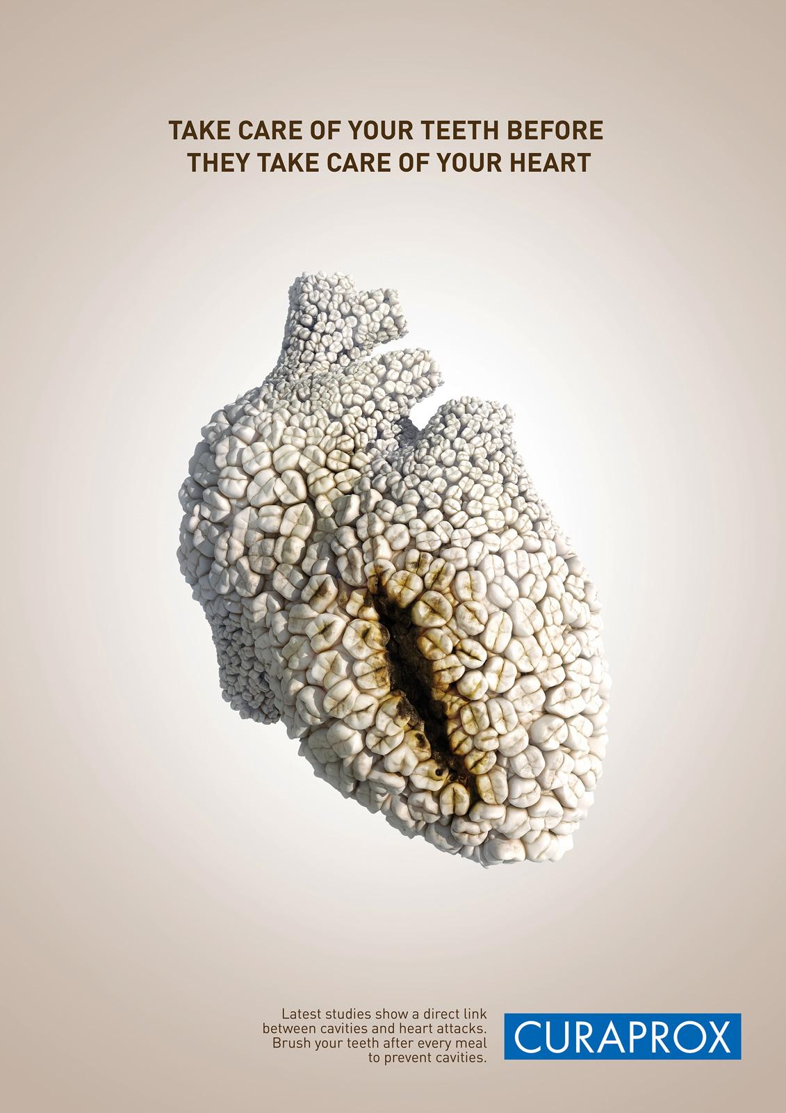 Curaprox Print Ad -  Heart Bite