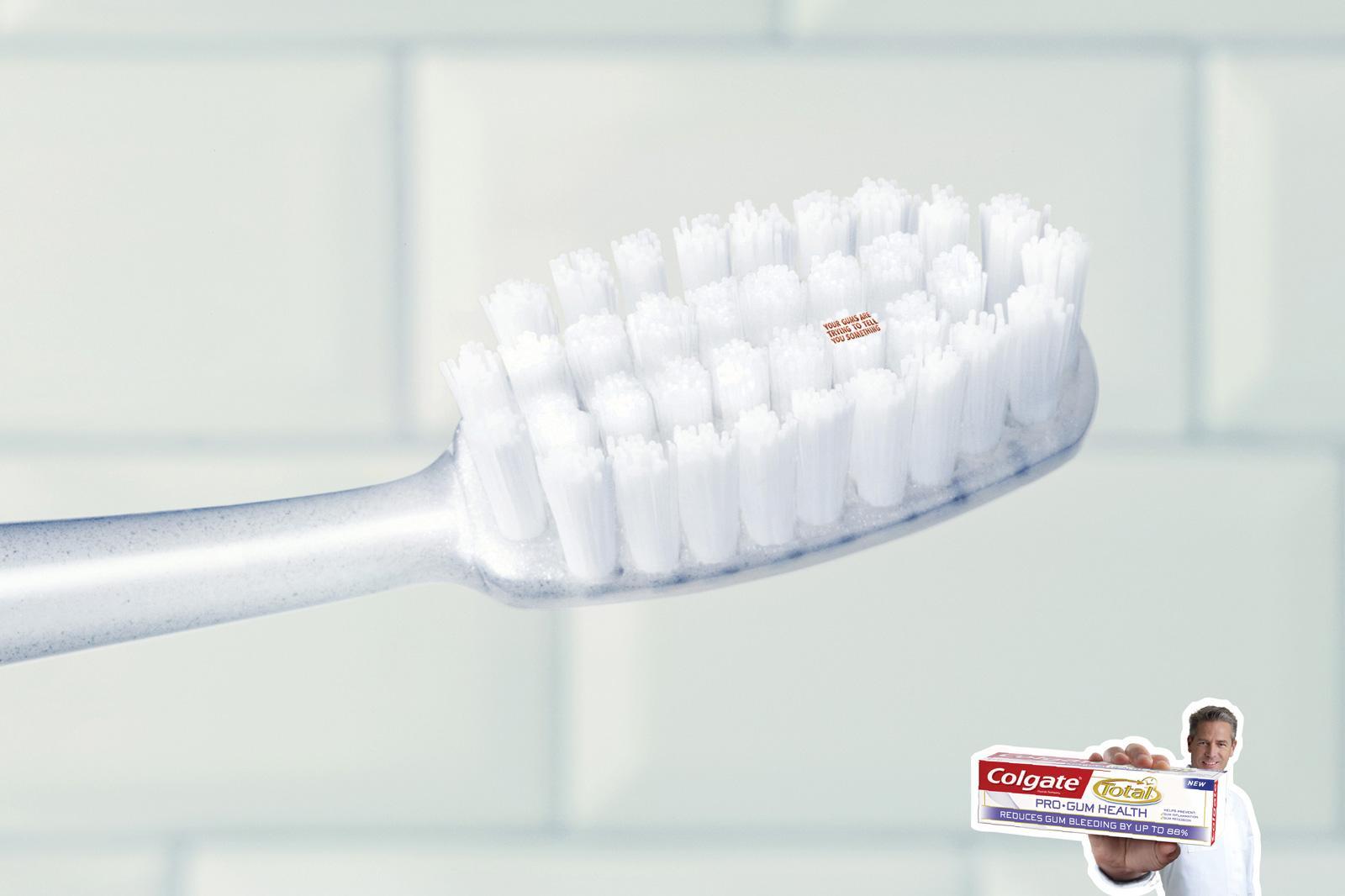 Colgate Print Ad -  Toothbrush