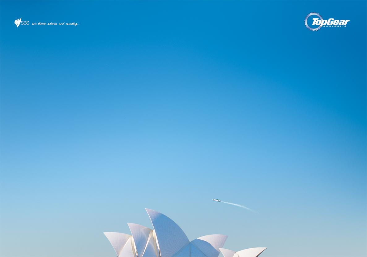 Top Gear Print Ad -  Opera house