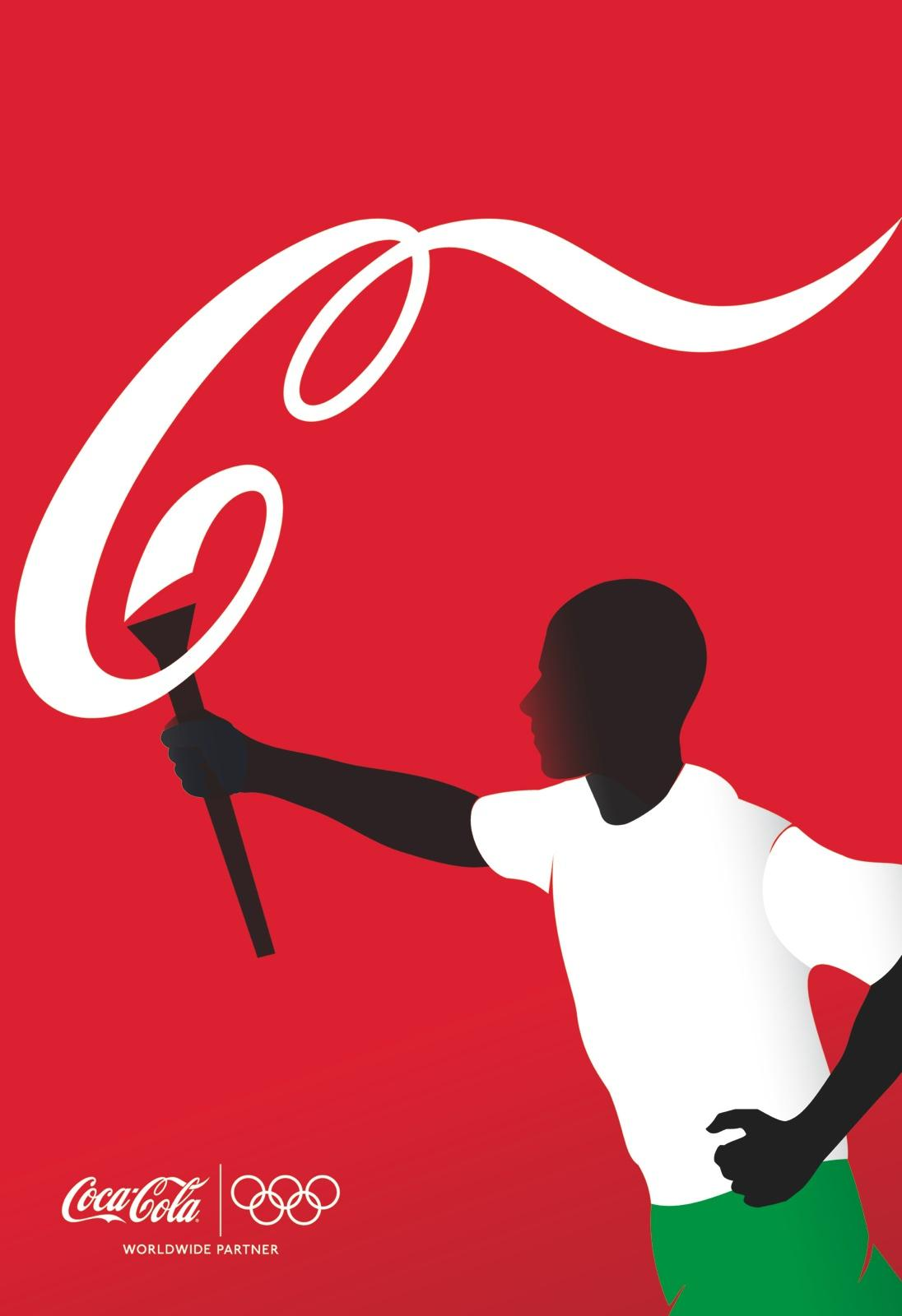 Coca-Cola Outdoor Ad -  Athletes, Torch Bearer
