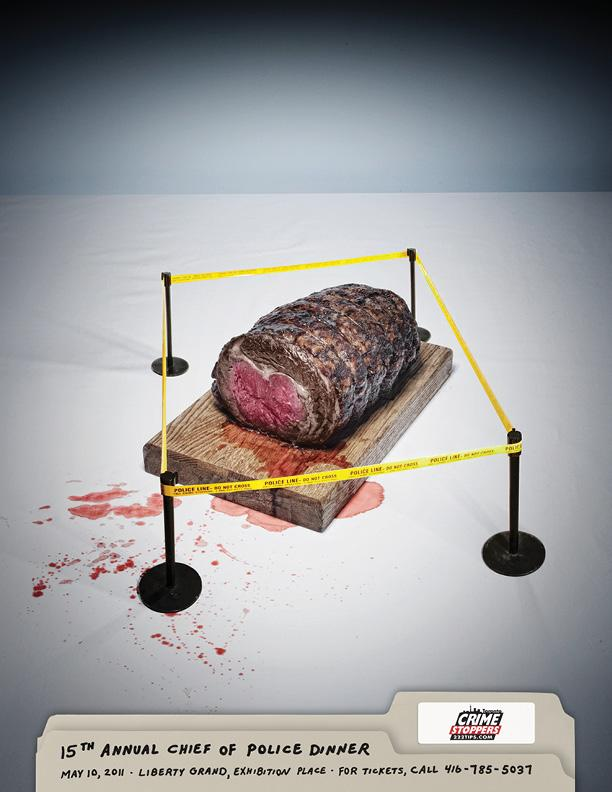 Crime Stoppers Print Ad -  Roast