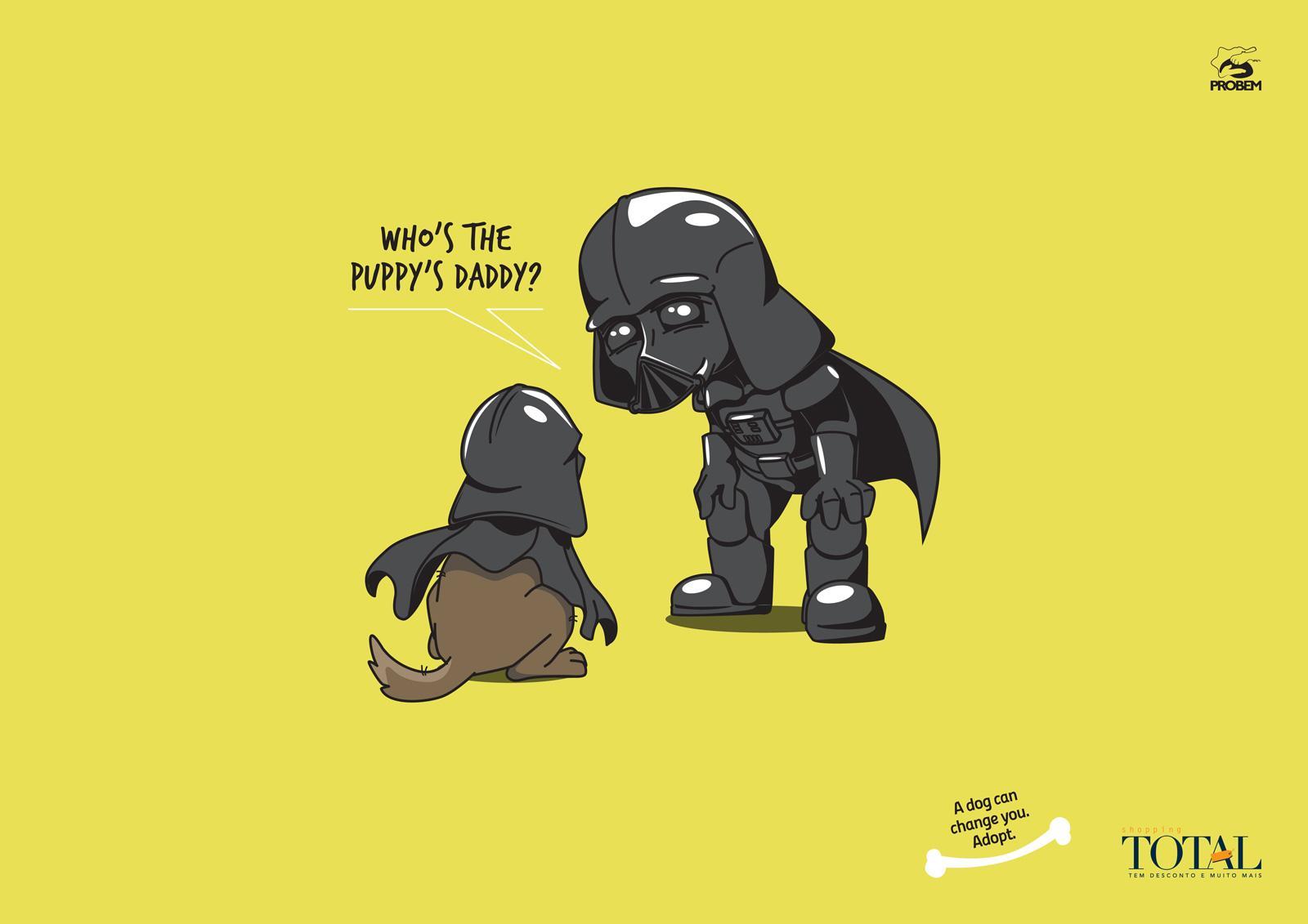 Shopping Total Print Ad -  Darth Vader