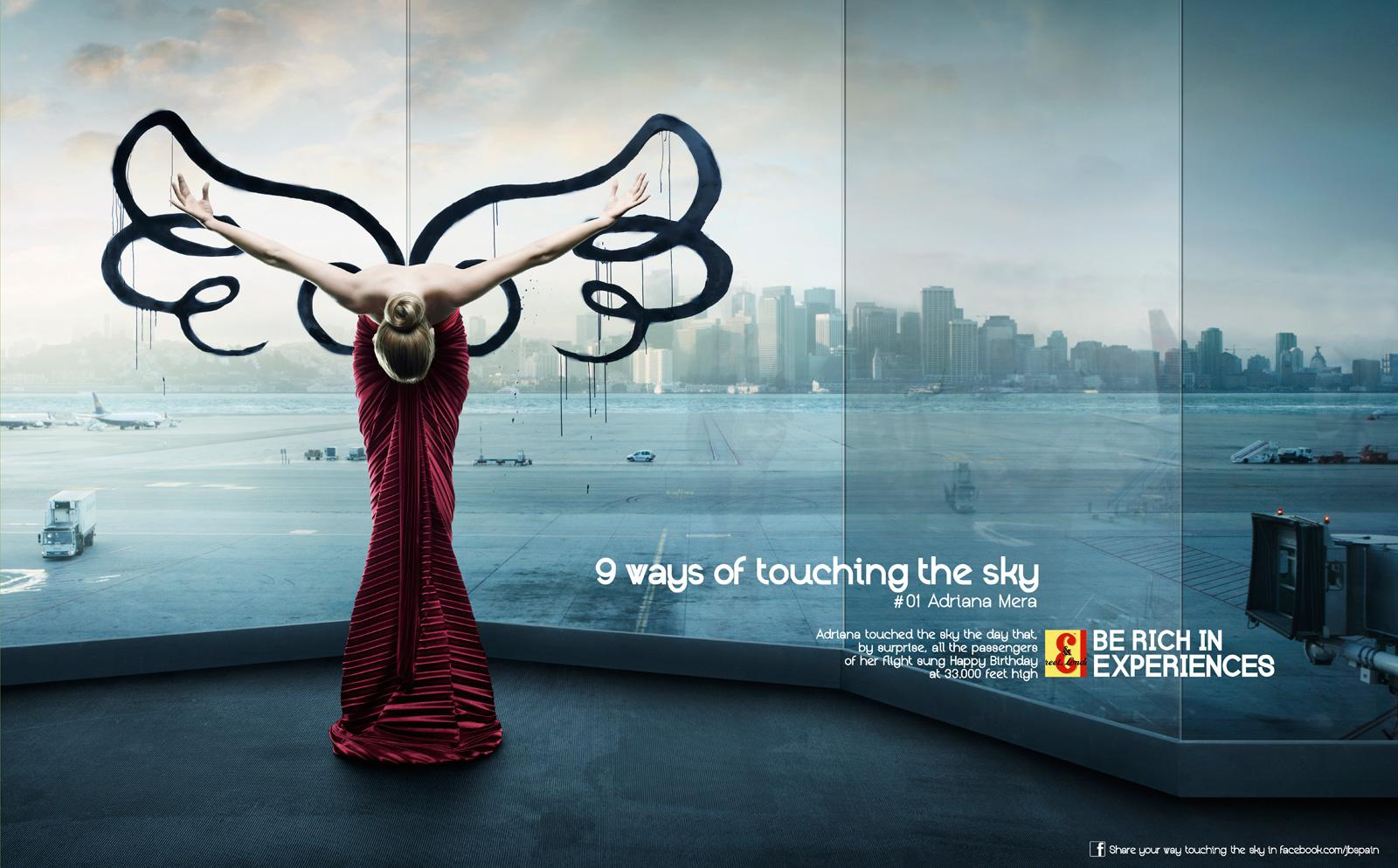 J&B Print Ad -  Touching the sky