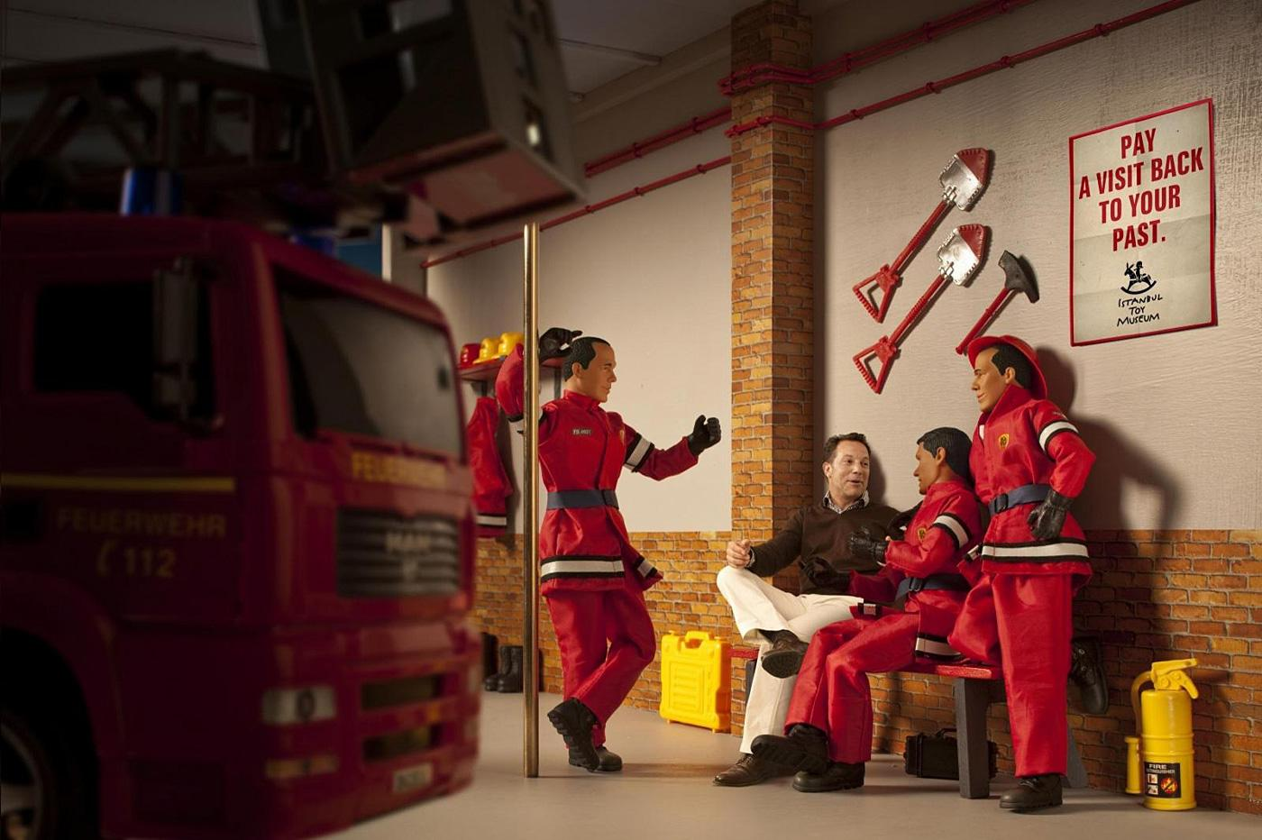 Istanbul Toy Museum Print Ad -  Fire fighters
