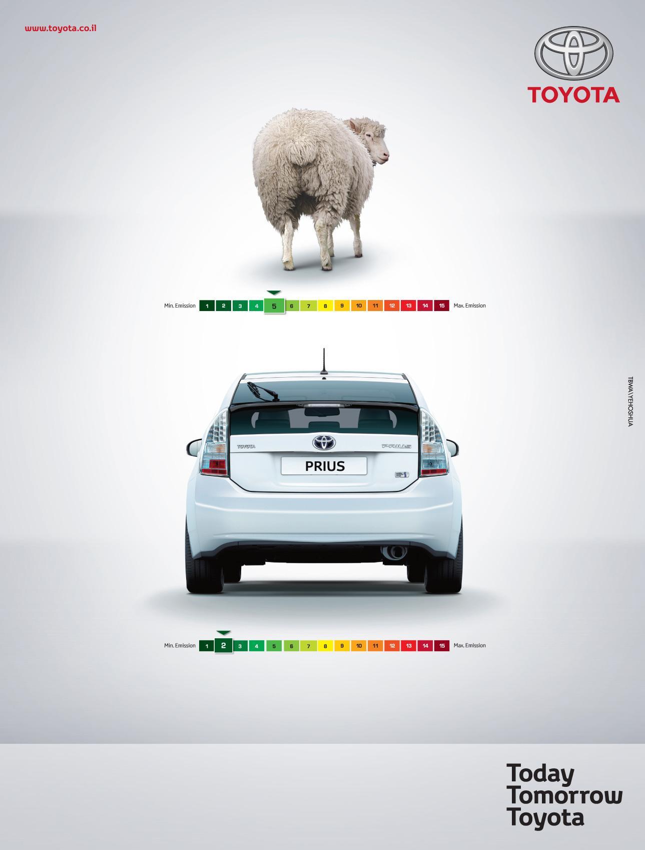 Toyota Print Ad -  Sheep farts