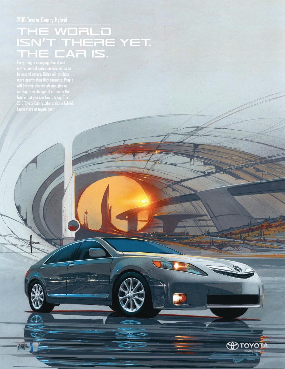Toyota Print Ad -  Isn't there yet