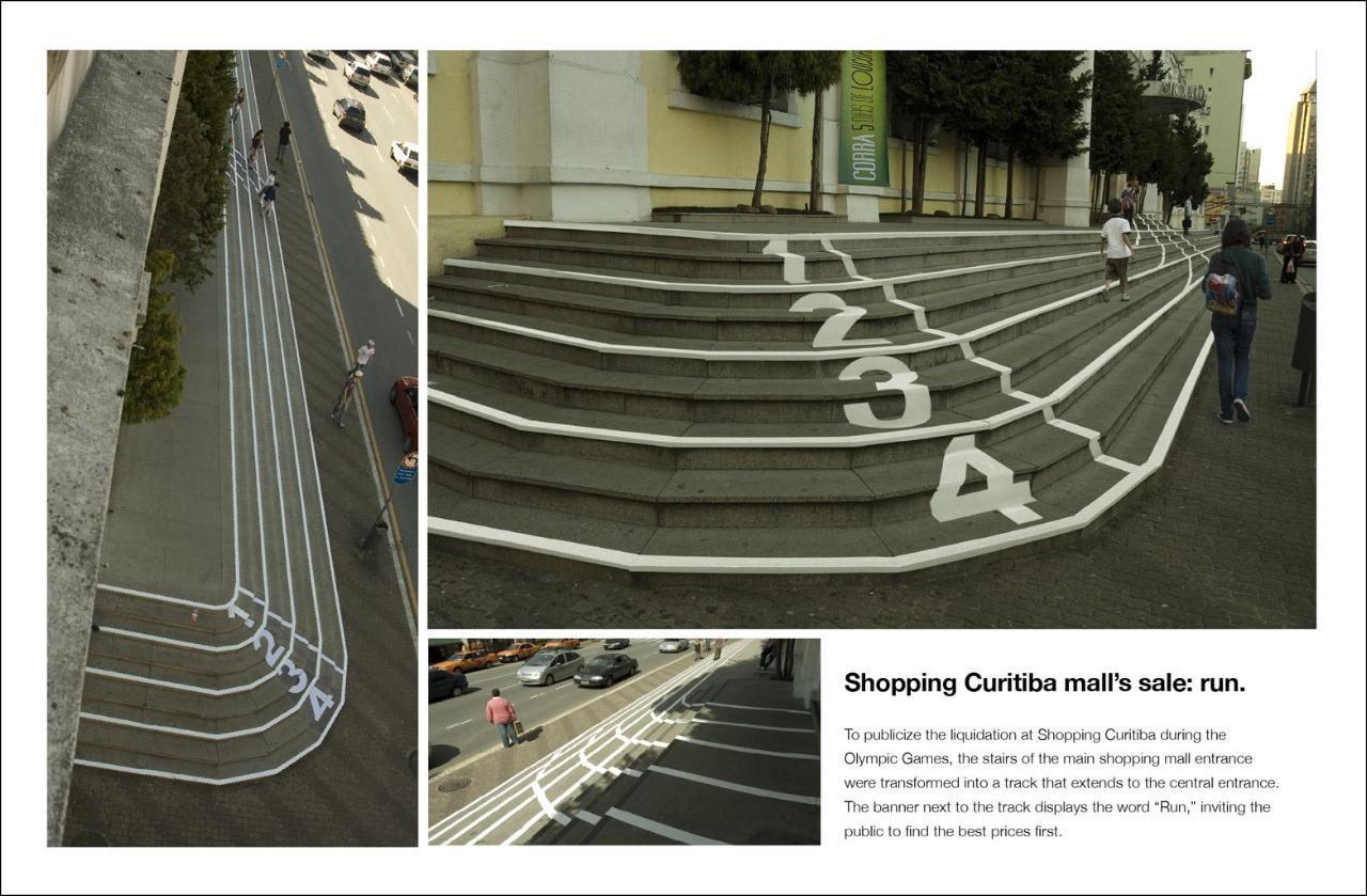 Curitiba Ambient Ad -  Stairs, Track & field