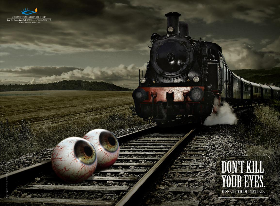 Vision Foundation of India Print Ad -  Train