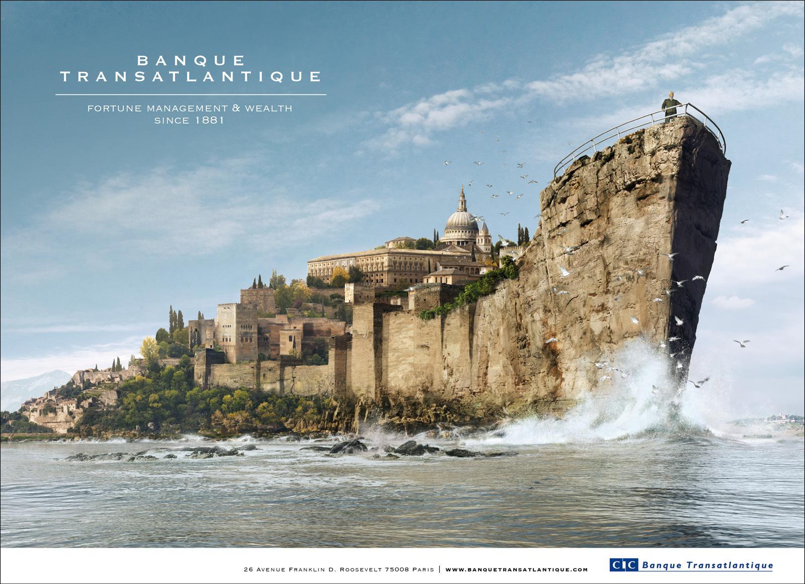 Banque Transatlantique Print Ad -  Castle