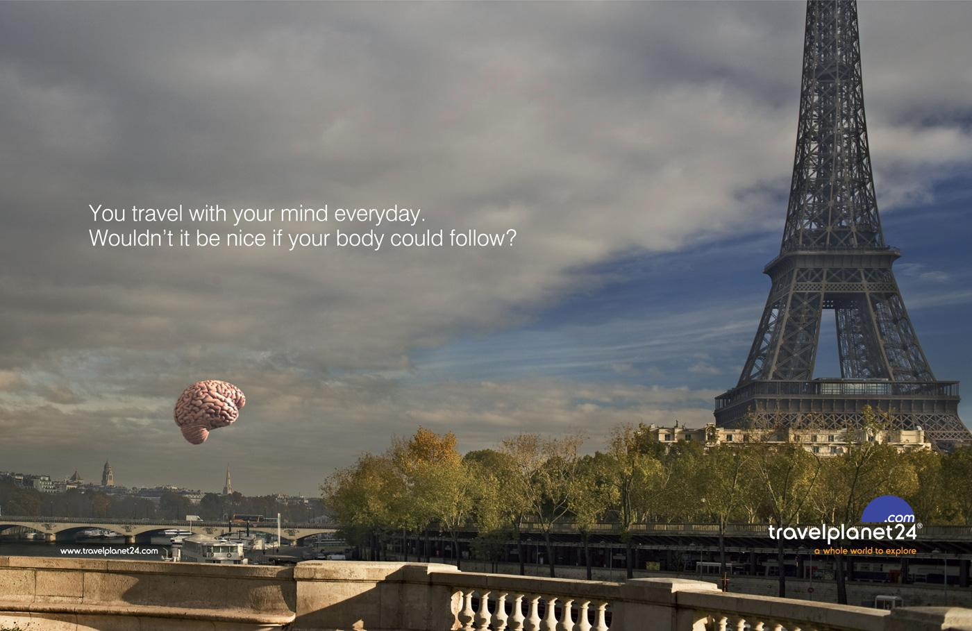 Travel Planet 24 Print Ad -  Paris