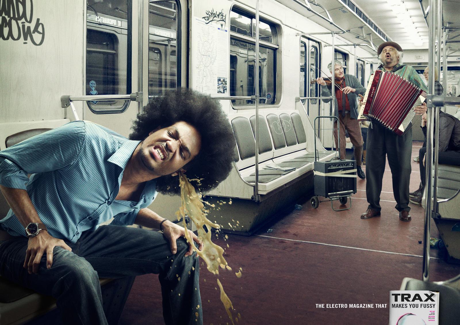 Trax Magazine Print Ad -  Subway