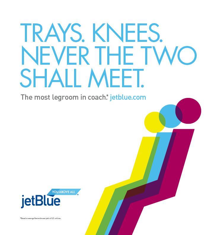 JetBlue Print Ad -  Trays