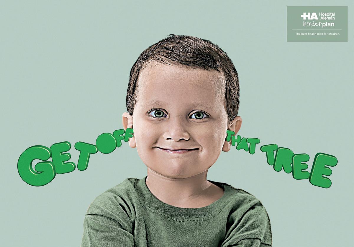 Hospital Aleman Print Ad -  Ears, Tree