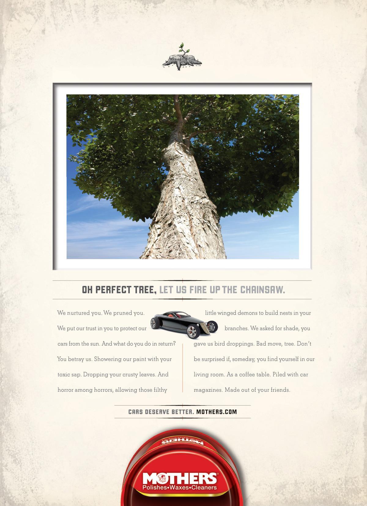 Mothers Car Polish Print Ad -  Tree