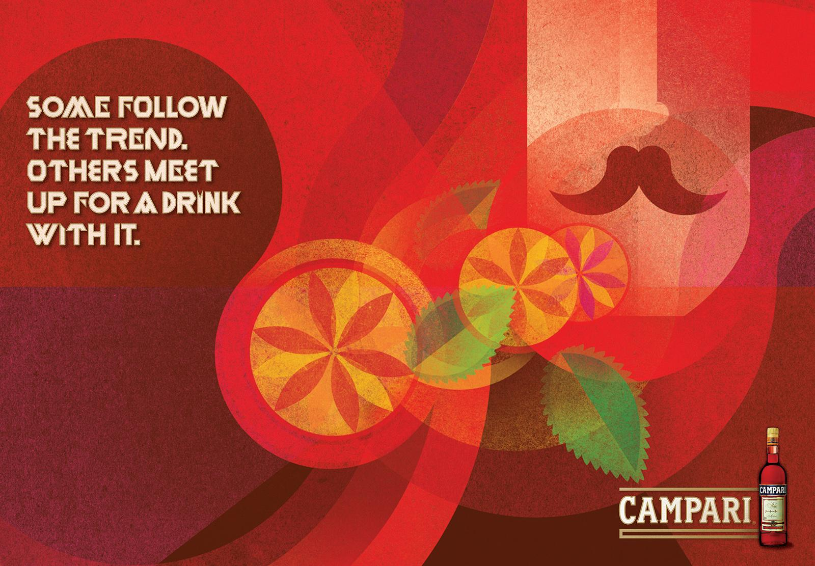 Campari Outdoor Ad -  Trend