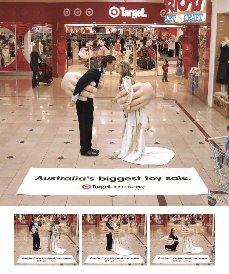 Target Ambient Ad -  Big Toy Sale, Wedding