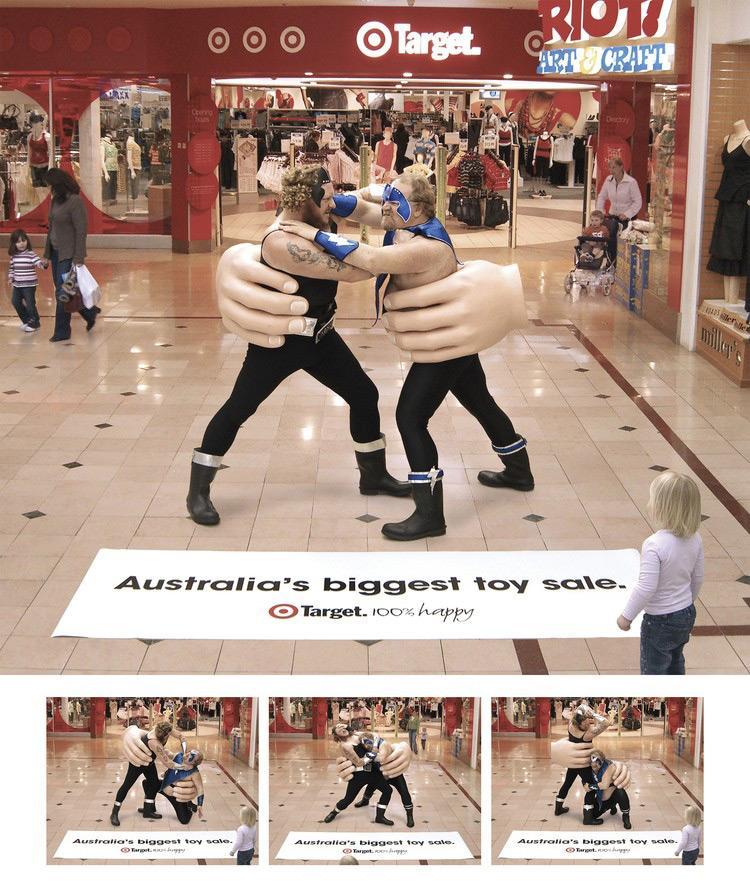 Target Ambient Ad -  Big Toy Sale, Wrestling