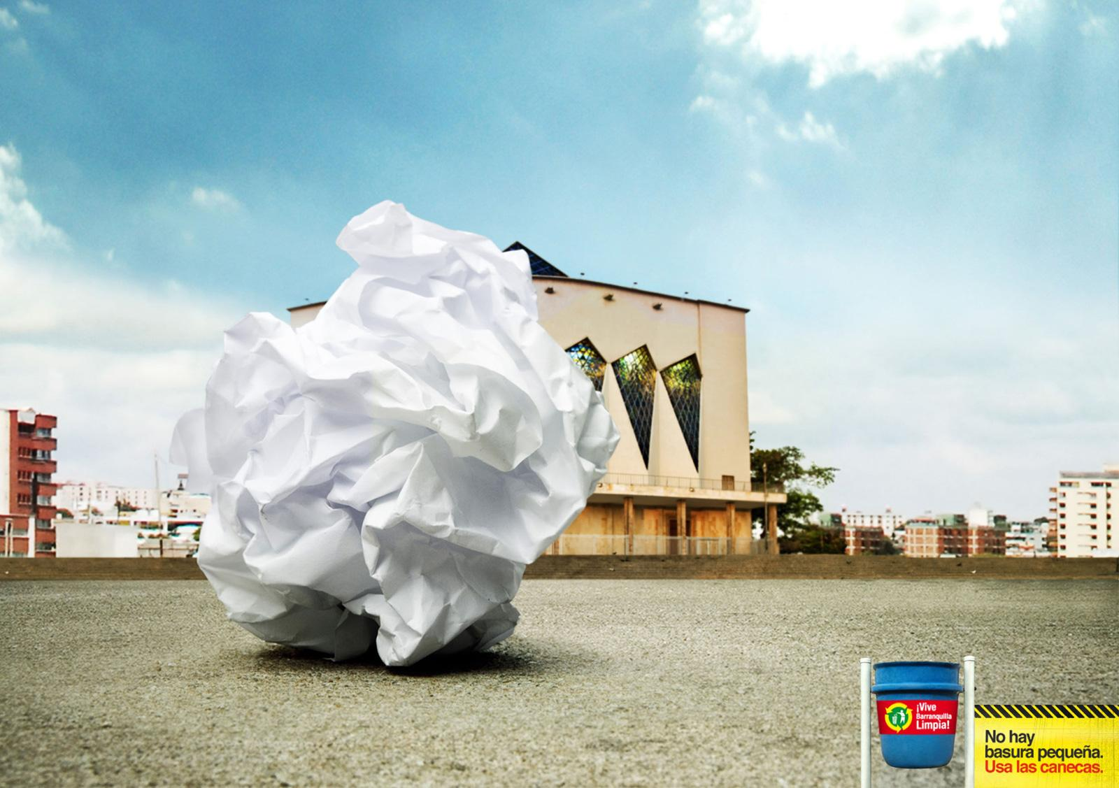 Vive Barranquilla Limpia Print Ad -  Paper