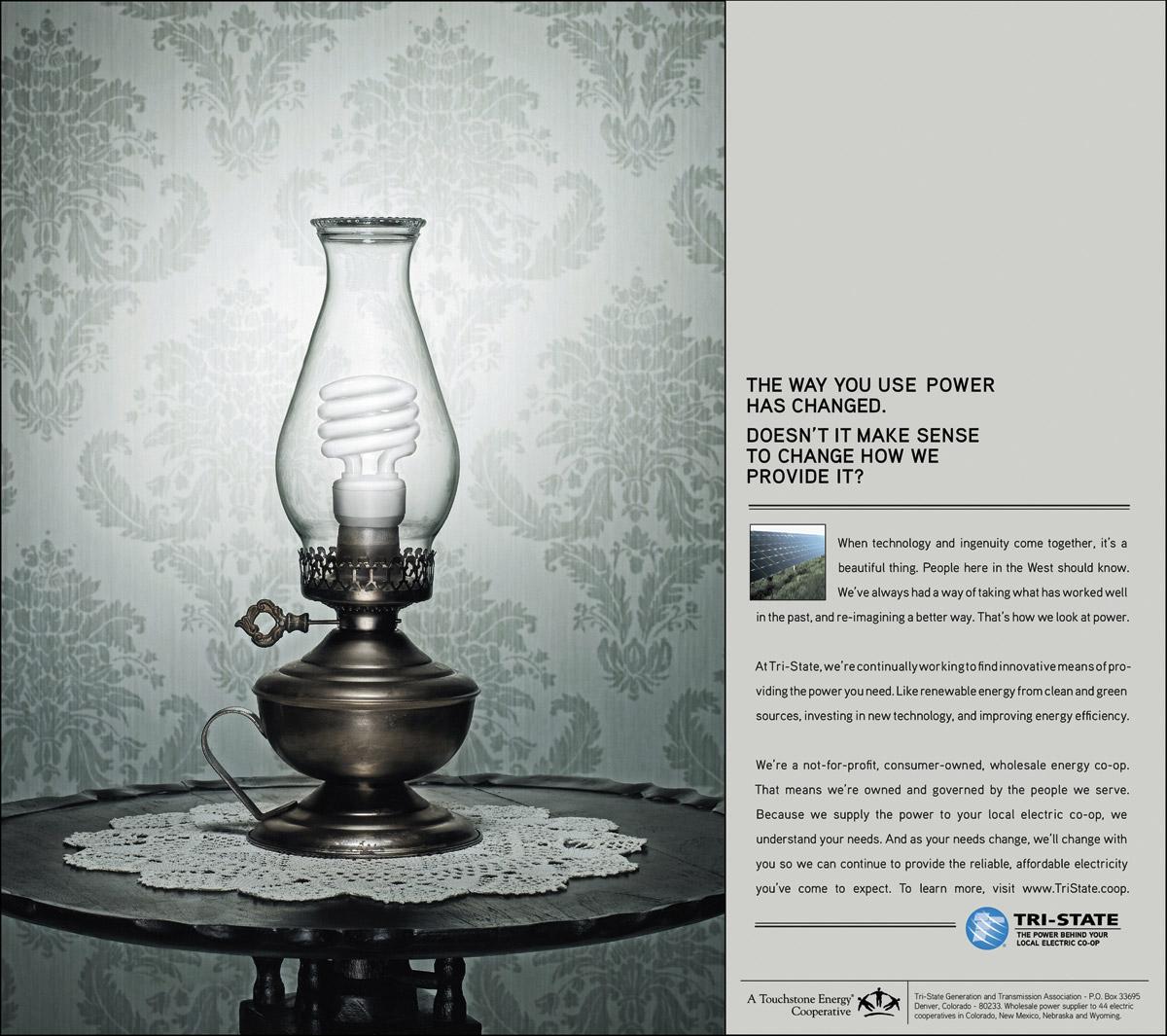 Tri-State Print Ad -  Compact fluorescent kerosene