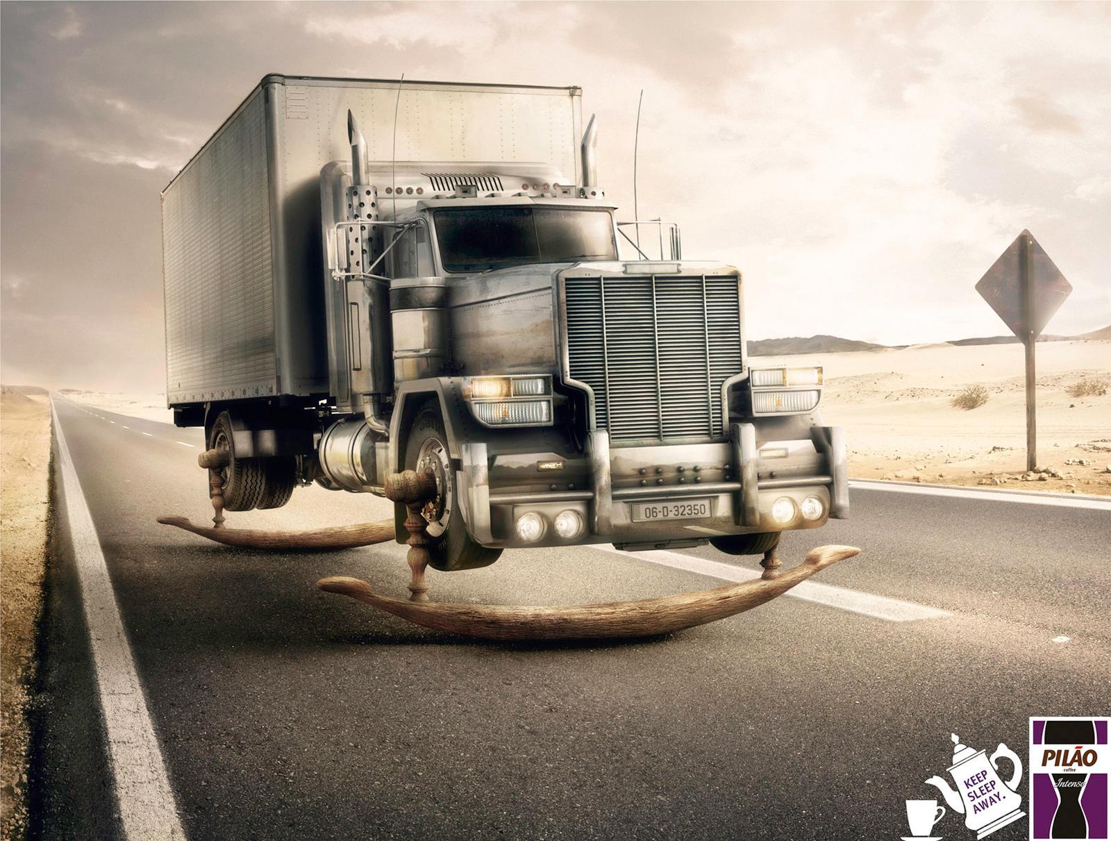 Pilao Coffee Print Ad -  Truck