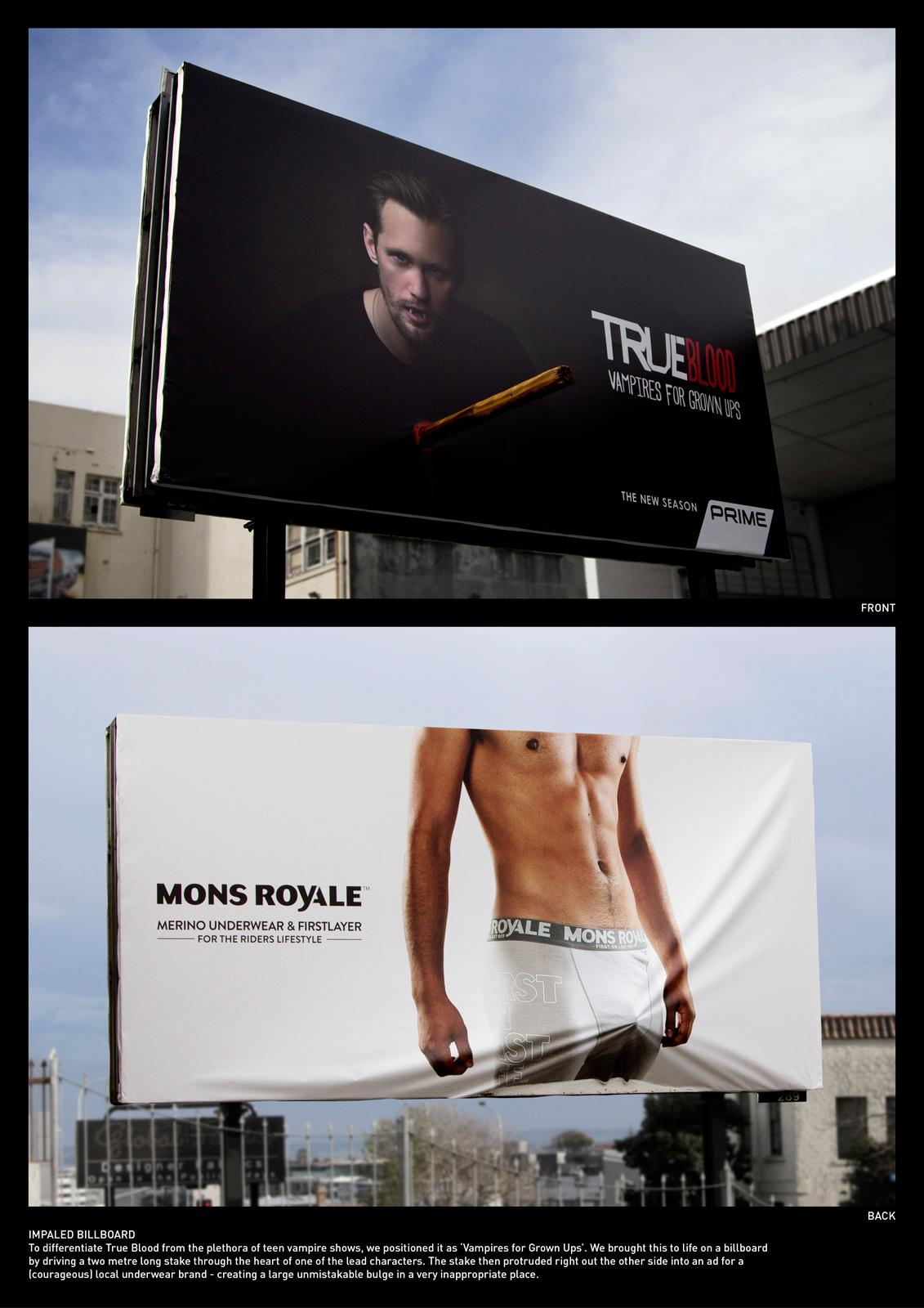 True Blood Outdoor Ad -  Impaled Billboard