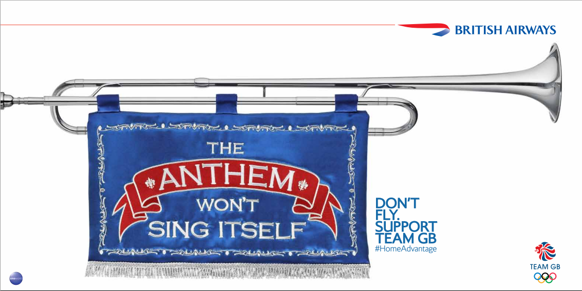 British Airways Print Ad -  Trumpet