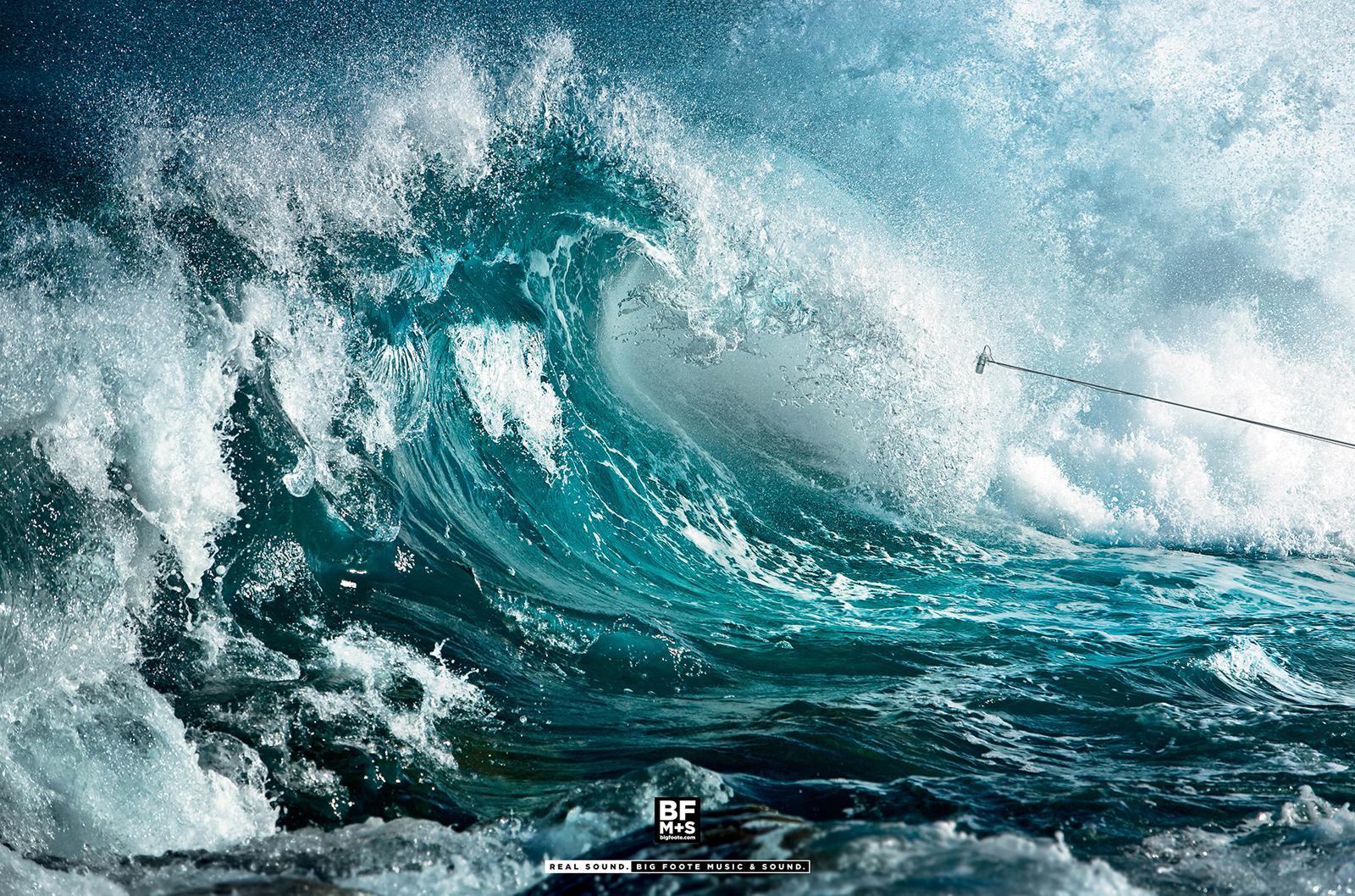 Big Foote Music & Sound Print Ad -  Tsunami
