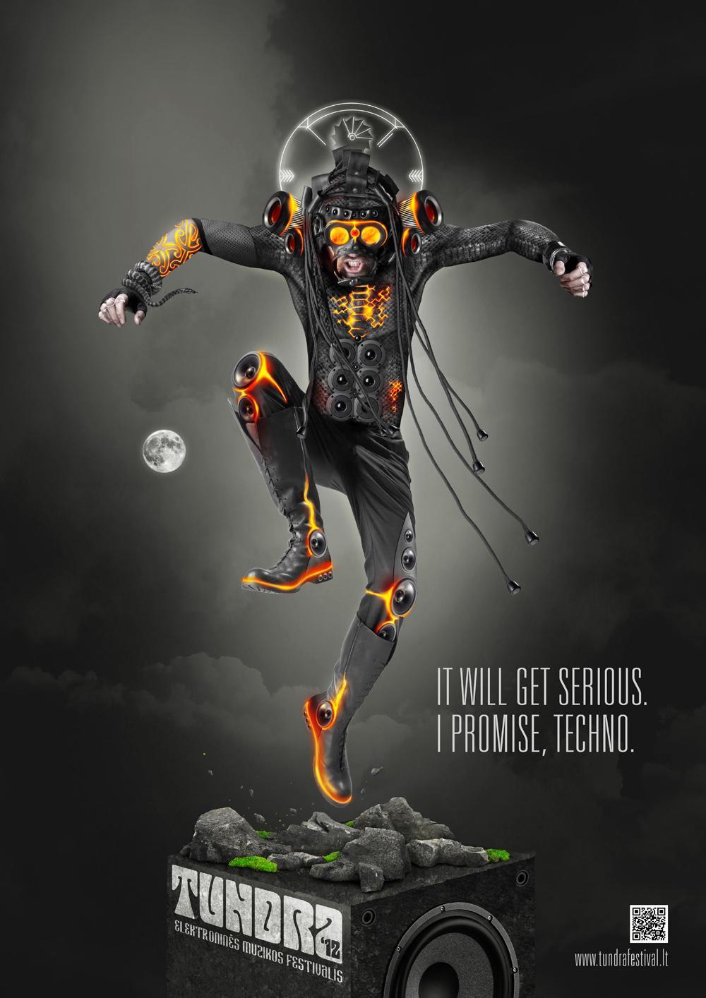 Tundra Festival Outdoor Ad -  Gods of Music, Techno