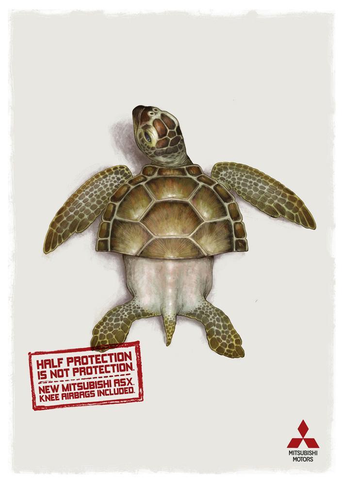Mitsubishi Print Ad -  Turtle