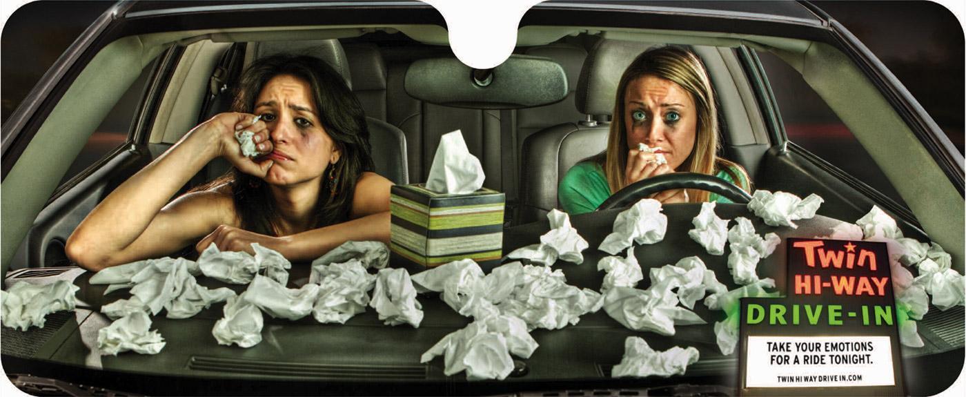 Twin Hi-Way Drive-In Direct Ad -  Drama