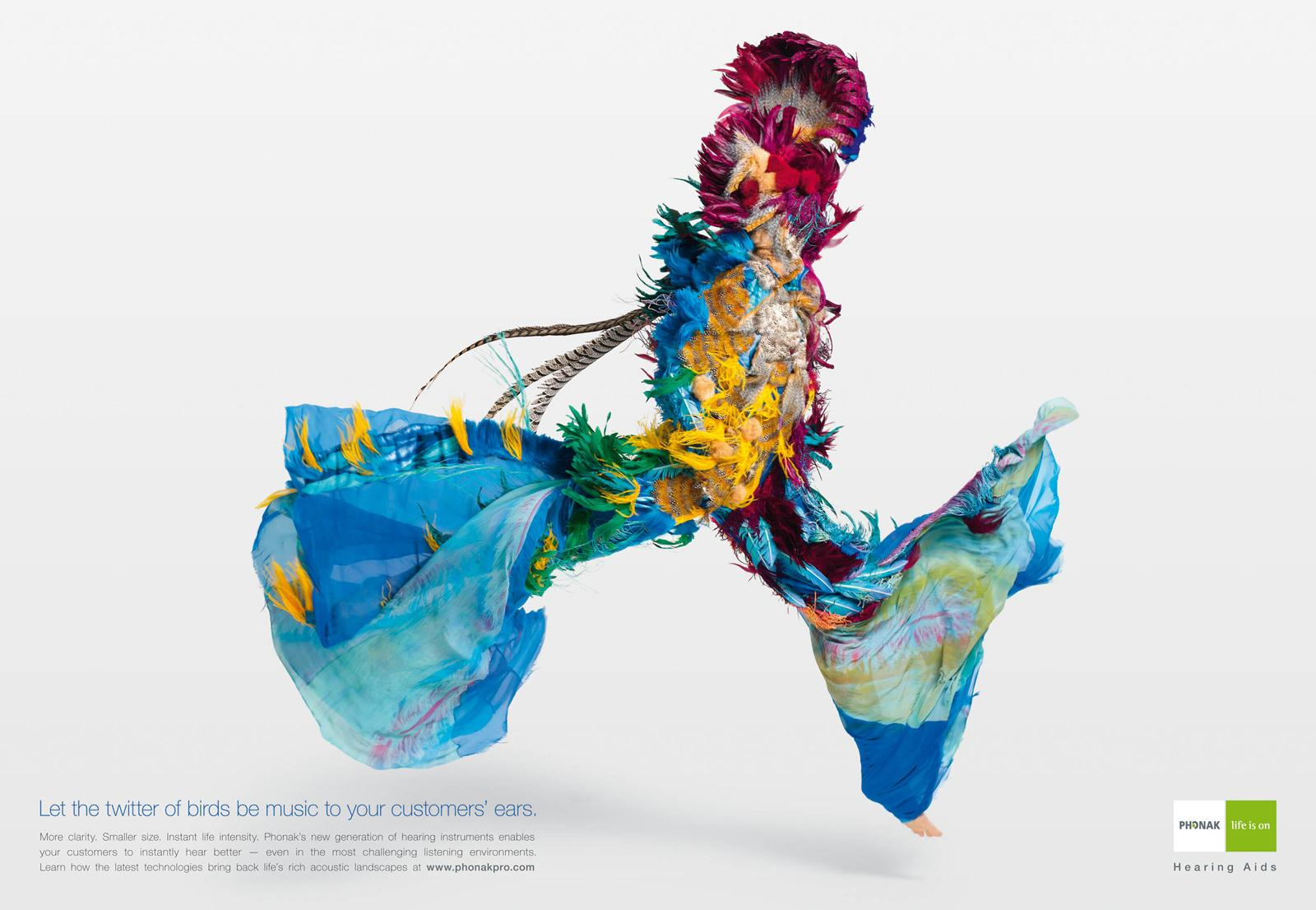Phonak Print Ad -  Spice, Twitter of Birds
