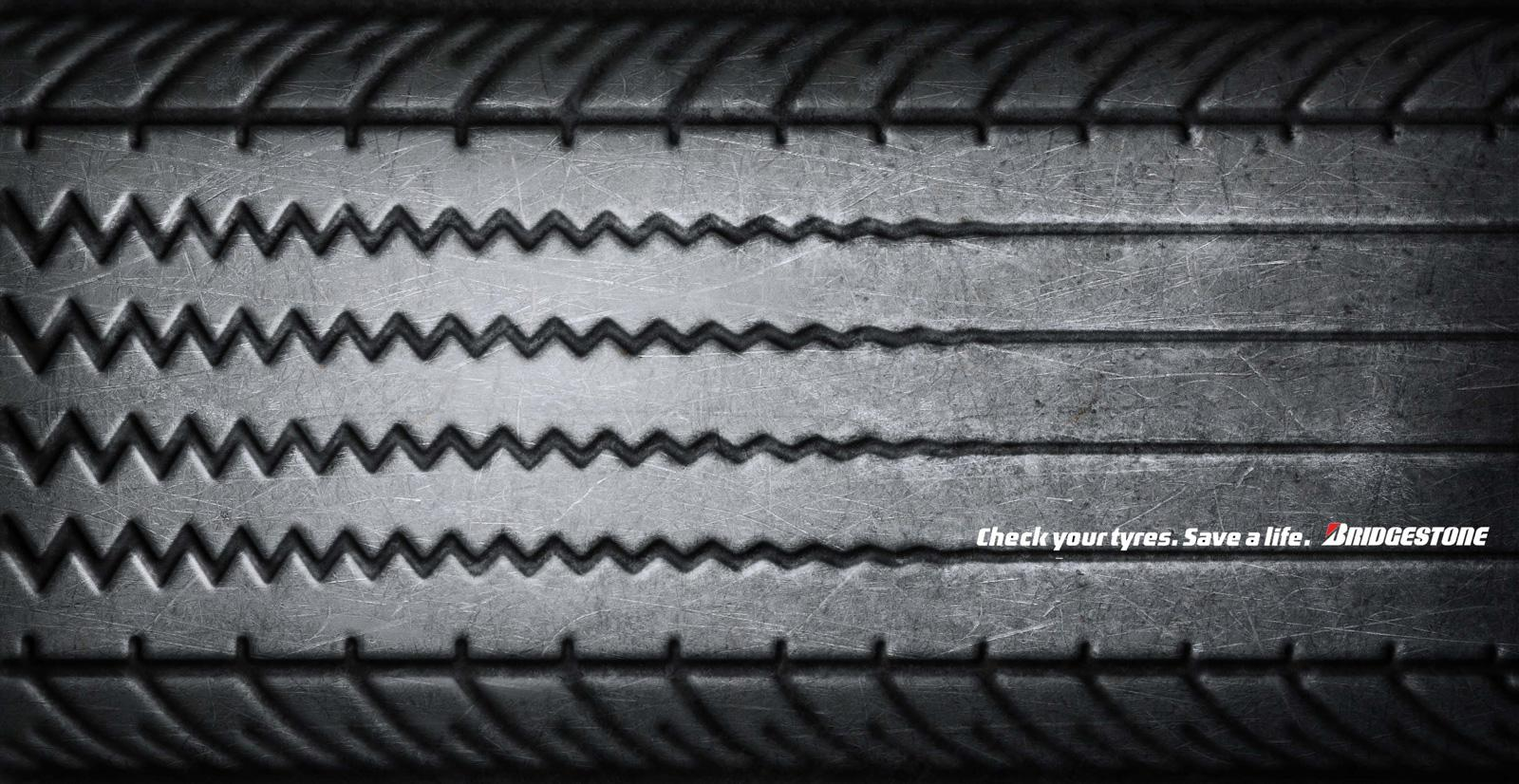 Bridgestone Print Ad -  Flatline