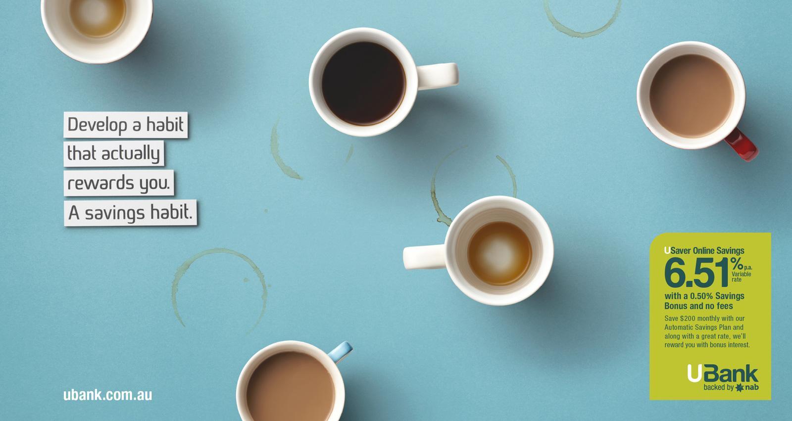UBank Print Ad -  Coffee
