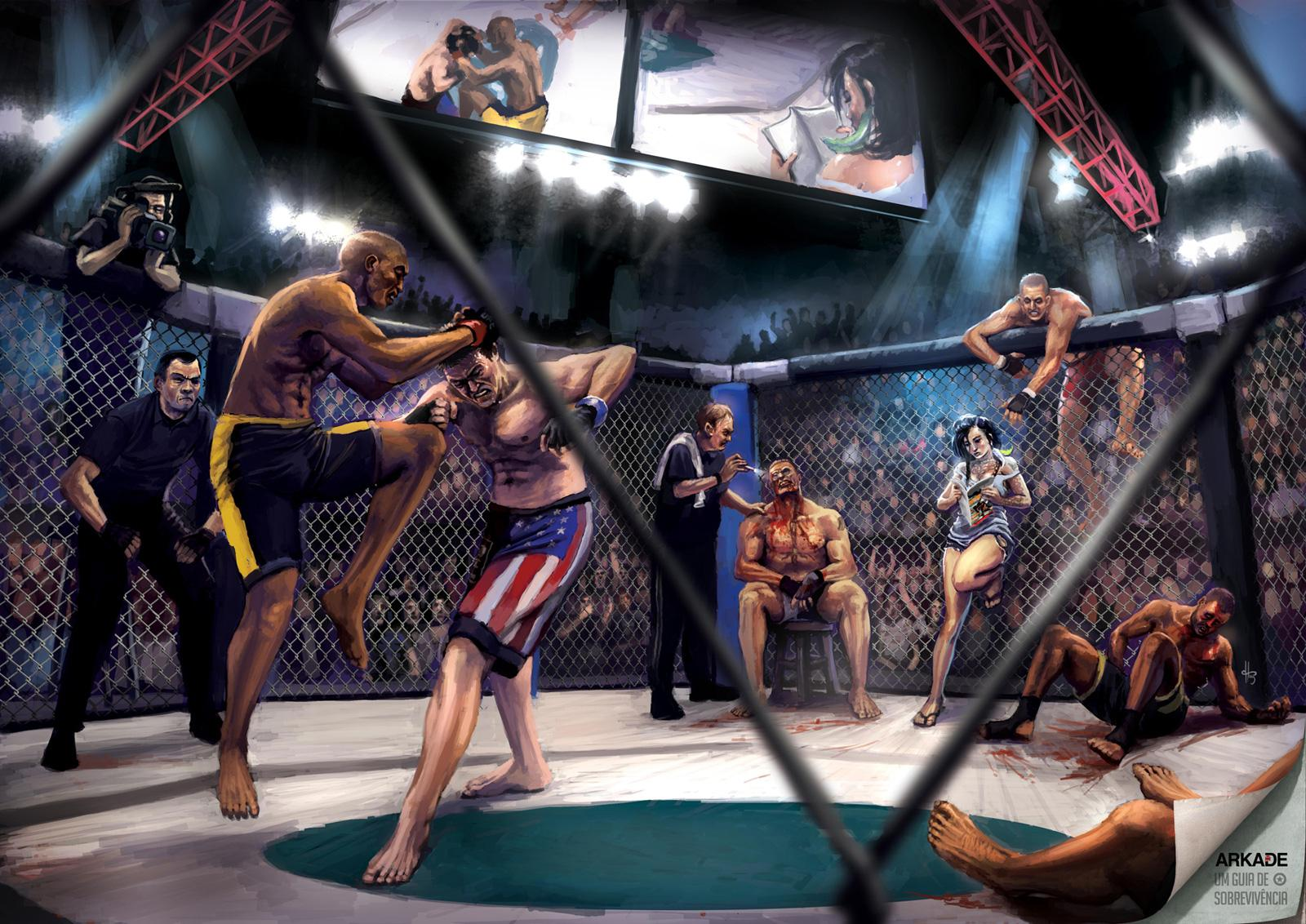 Arkade Print Ad -  UFC