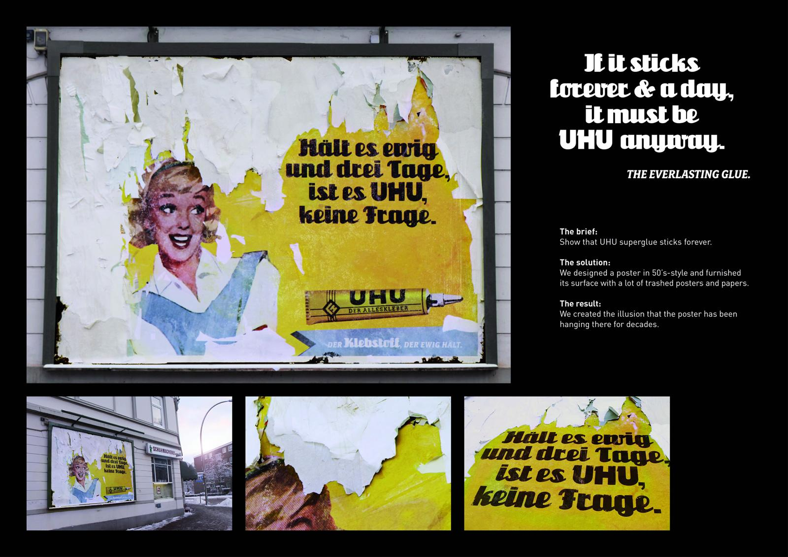 UHU Outdoor Ad -  Retro Billboard