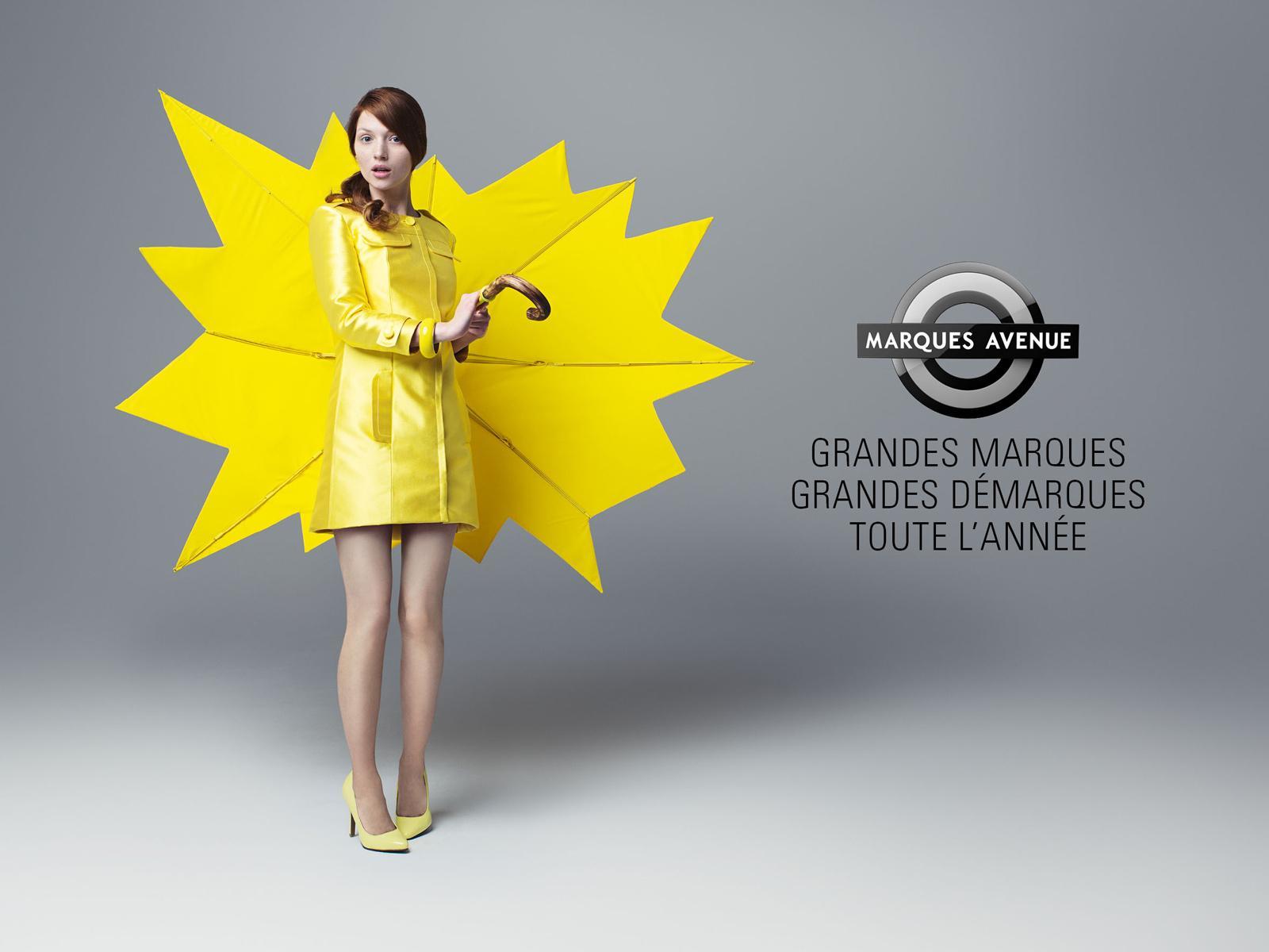 Marques Avenue Print Ad -  Special offers stickers, Umbrella