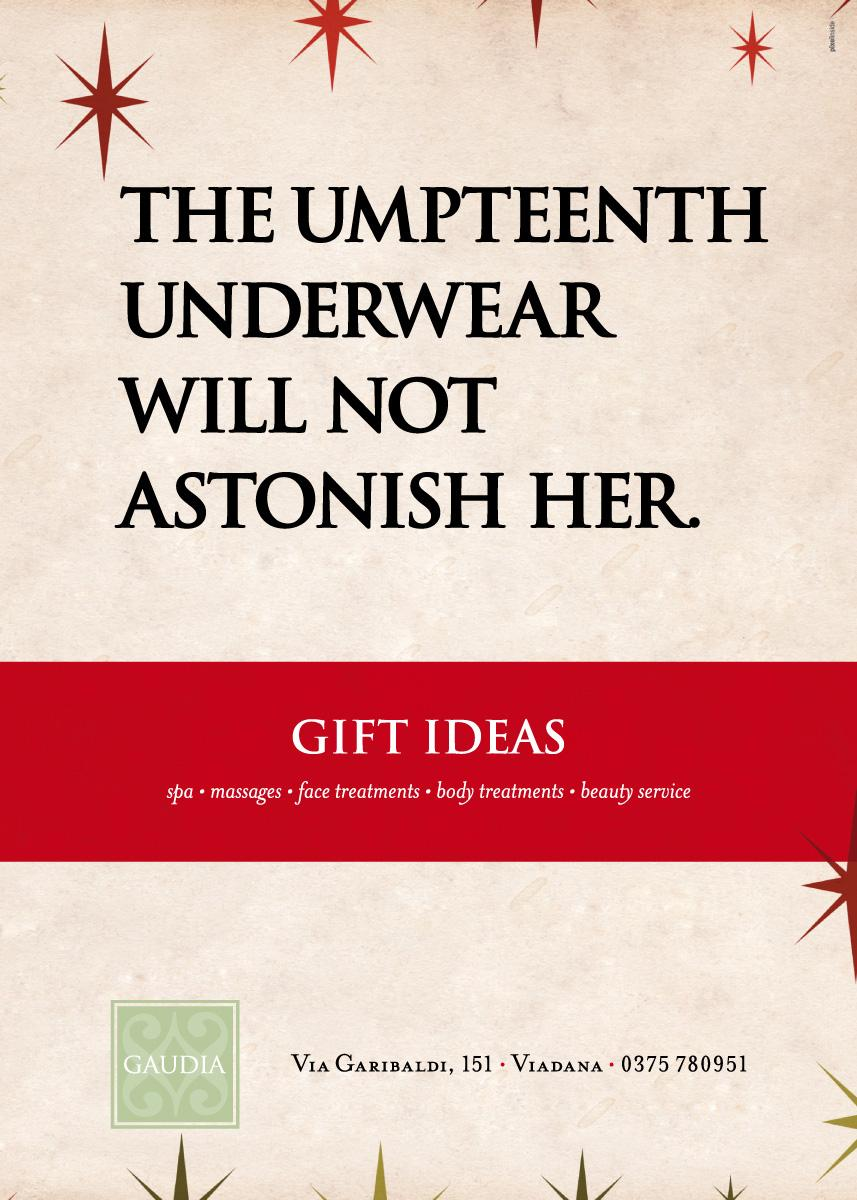 Gaudia Wellness Print Ad -  Underwear