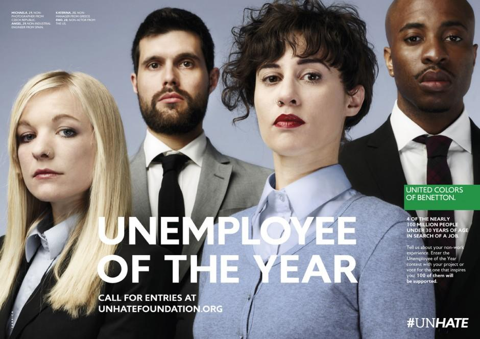 Benetton Print Ad -  Unemployee of the Year, 3