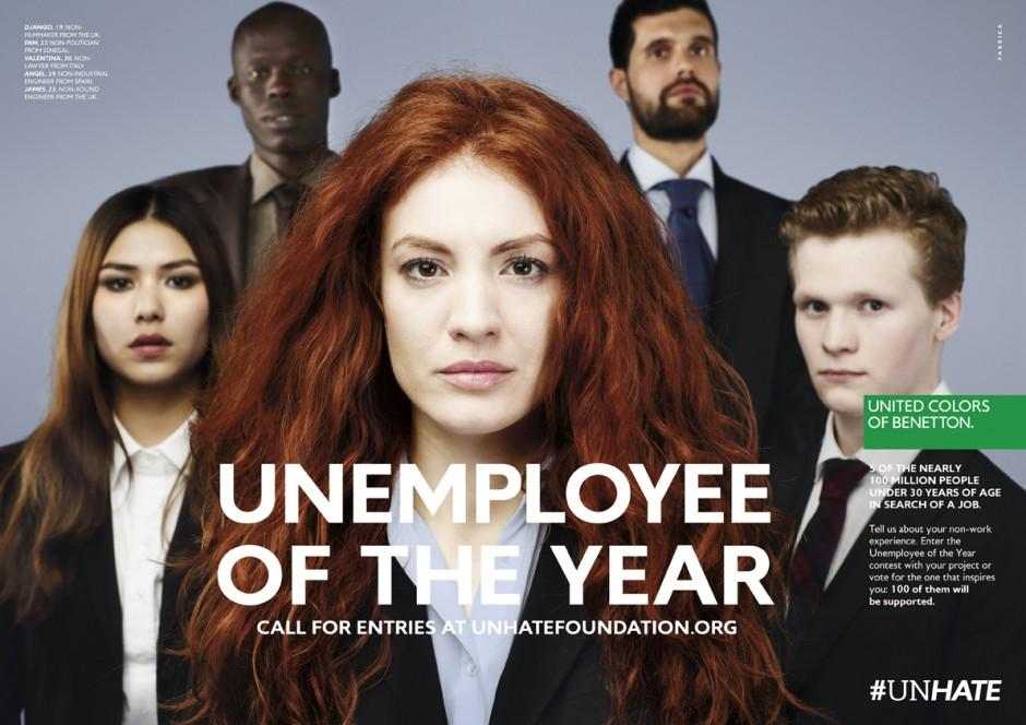 Benetton Print Ad -  Unemployee of the Year, 5