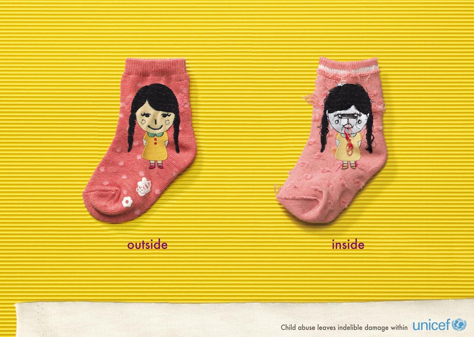 Unicef Print Ad -  Socks