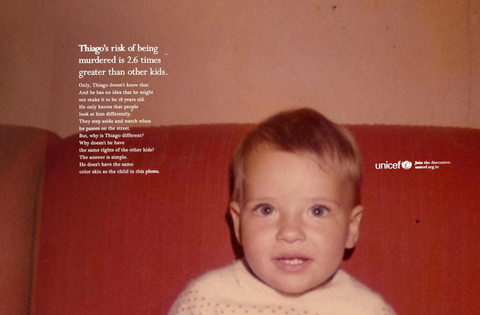 Unicef Print Ad -  Thiago