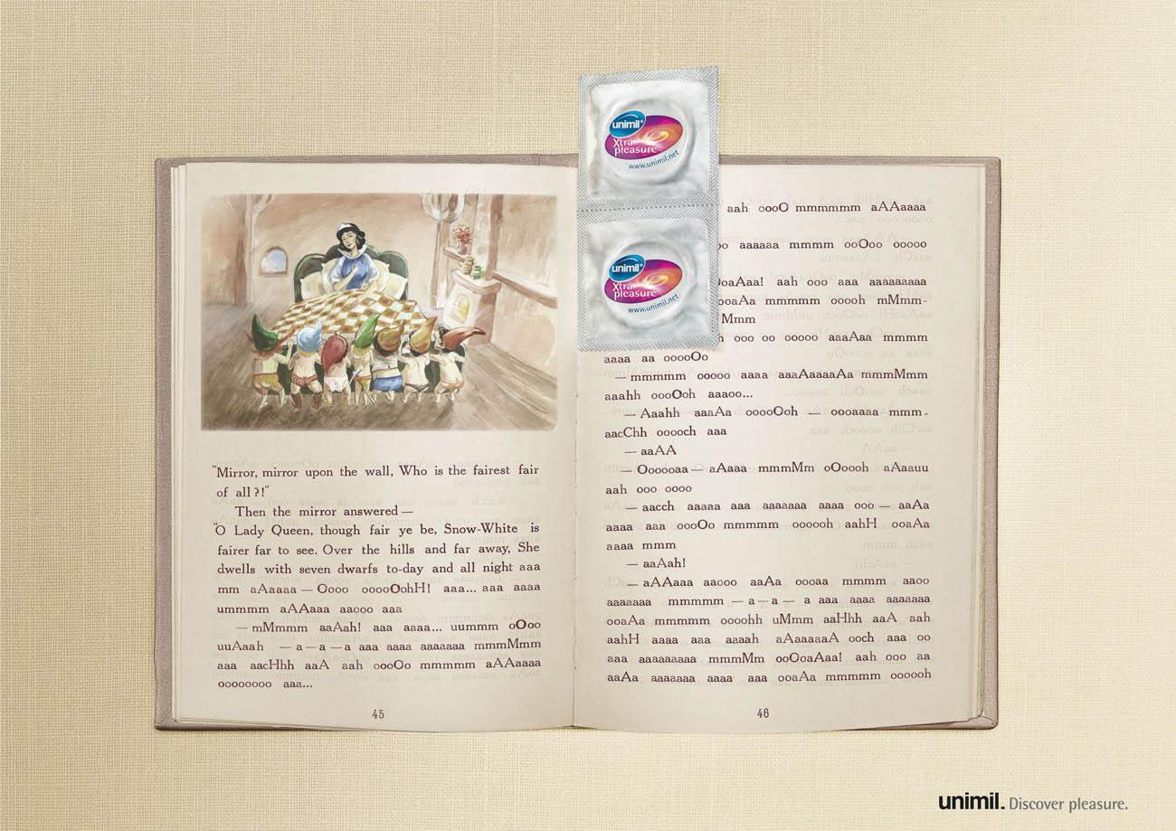 Unimil Print Ad -  Snow White