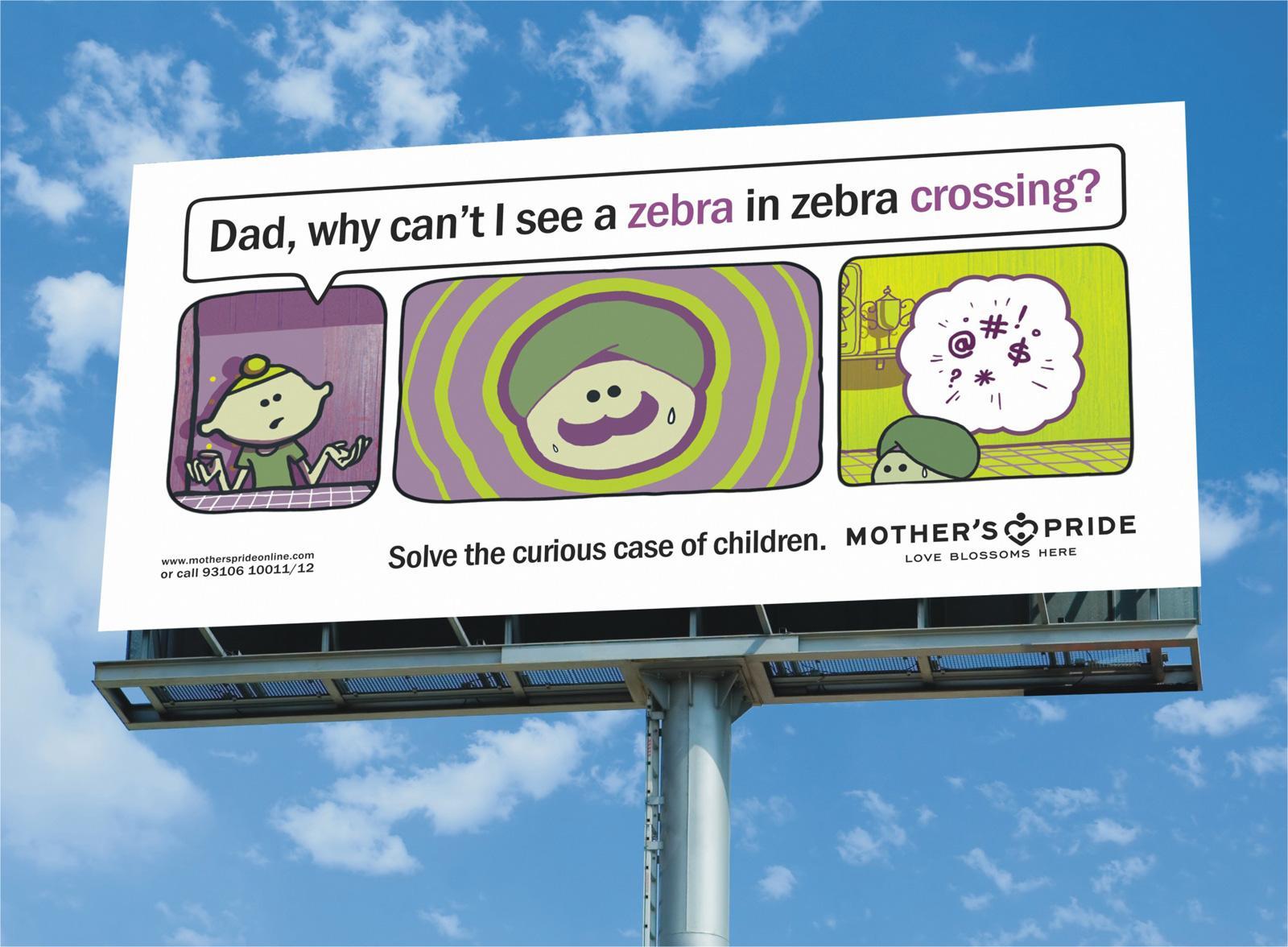 Mother's Pride Outdoor Ad -  Zebra