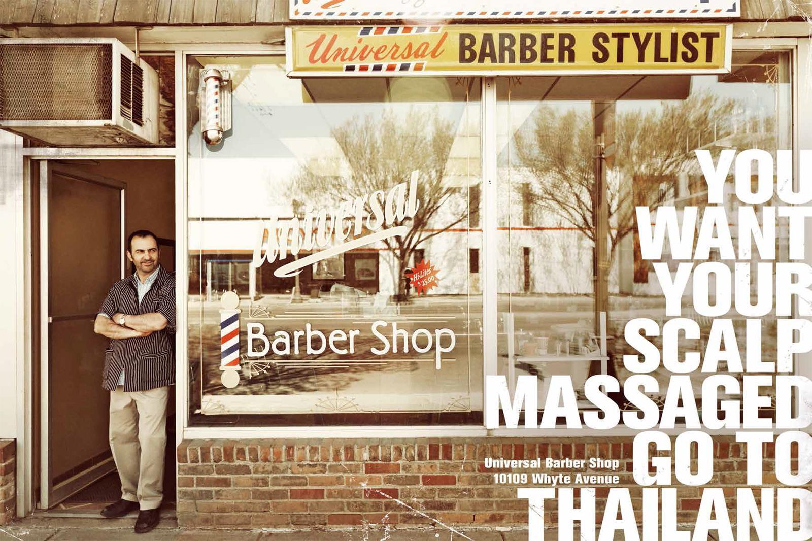Universal Barber Shop Print Ad -  Thailand